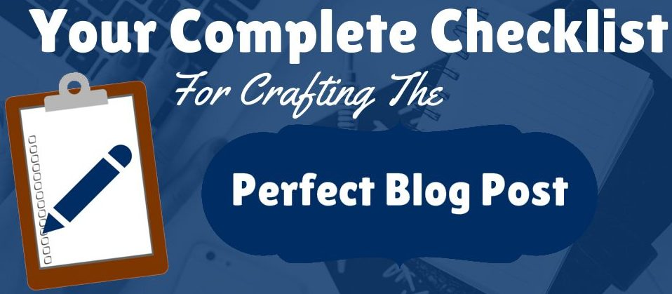 Checklist for blog optimization